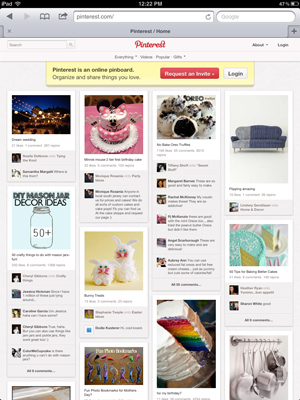 Pinterest Waiting for iPad App